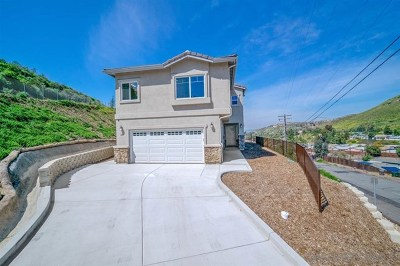El Cajon Single Family Home For Sale: 1206 Topper Ln