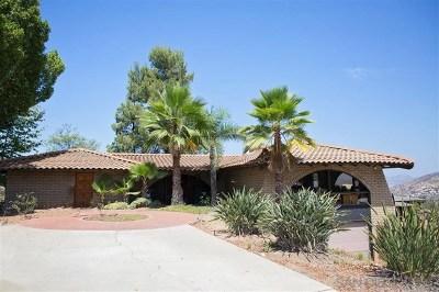El Cajon Single Family Home For Sale: 835 Mountain View Place