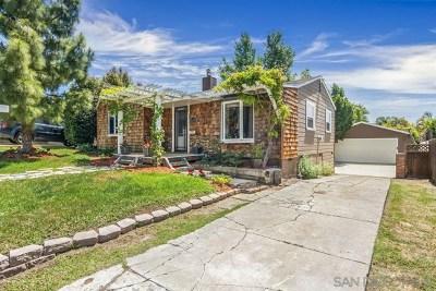 La Mesa Single Family Home For Sale: 7239 Stanford Ave