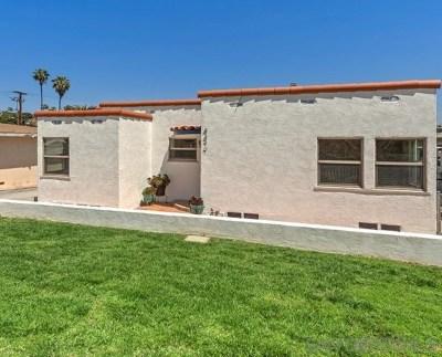 La Mesa Single Family Home For Sale: 4477 Spring Street