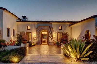 Alpine, Carmel Valley, Del Mar, Encinitas, Escondido, Rancho Santa Fe, San Diego Single Family Home For Sale: 16636 El Zorro Vista