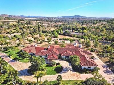 Alpine, Carmel Valley, Del Mar, Encinitas, Escondido, Rancho Santa Fe, San Diego Single Family Home For Sale: 6625 Lago Lindo