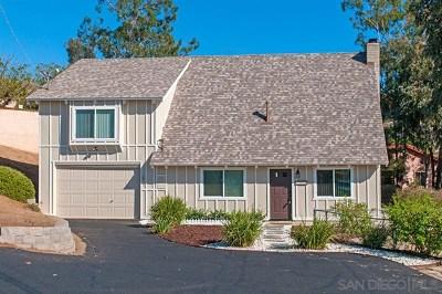 El Cajon Single Family Home For Sale: 2080 Eula