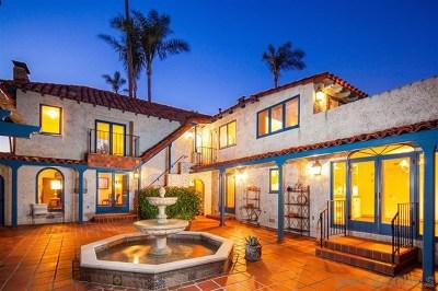 Coronado Single Family Home For Sale: 631 A Avenue