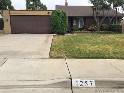 San Marcos Single Family Home For Sale: 1257 Calle Colnett