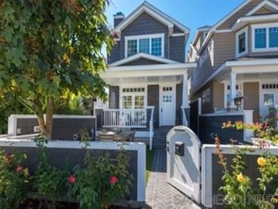 Coronado Single Family Home For Sale: 464 Orange Ave