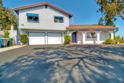 Escondido Single Family Home For Sale: 1018 Avocado Ave