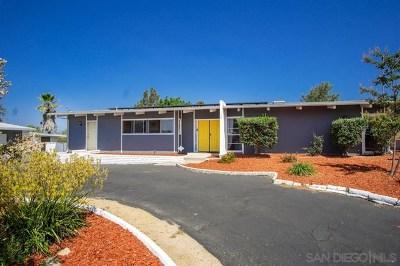 Fallbrook Single Family Home For Sale: 1720 Via Entrada