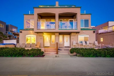 San Diego Condo/Townhouse For Sale: 3897 Ocean Front Walk