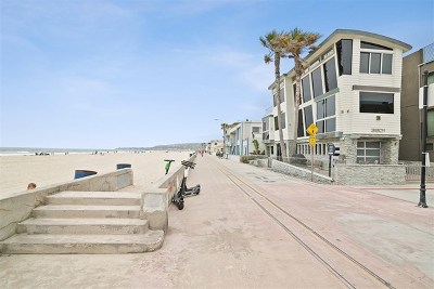 San Diego Single Family Home For Sale: 3801 Ocean Front Walk