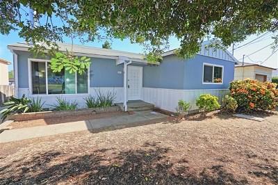 La Mesa Single Family Home For Sale: 7637 Homewood Pl