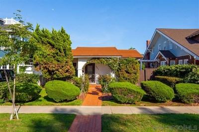 Coronado Single Family Home For Sale: 447 A Avenue