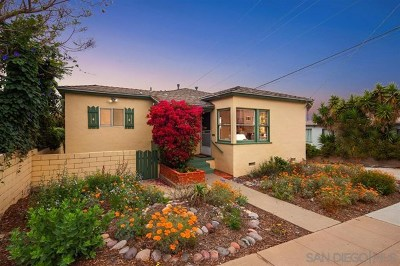 San Diego Single Family Home For Sale: 1920 Froude Street