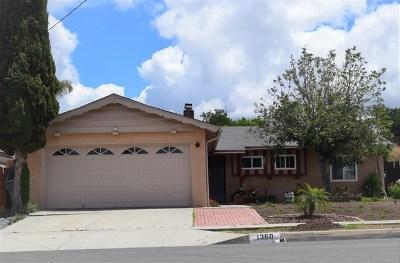 Escondido Single Family Home For Sale: 1360 Taft