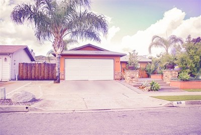 San Diego County Single Family Home For Sale: 610 Carlann