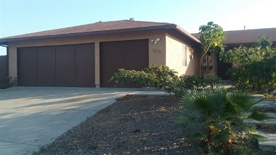 Vista Single Family Home For Sale: 1622 Ravine Rd.