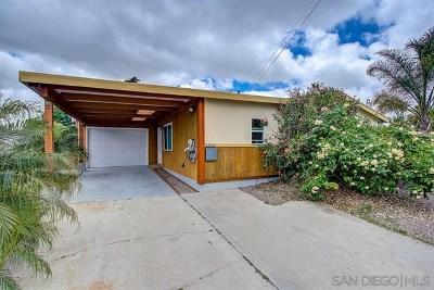 San Diego Single Family Home For Sale: 5303 Vergara St
