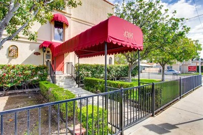 San Diego Condo/Townhouse For Sale: 4205 Ohio St #108