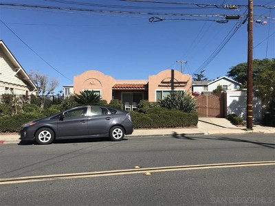 San Diego Single Family Home For Sale: 1002 Sutter Street