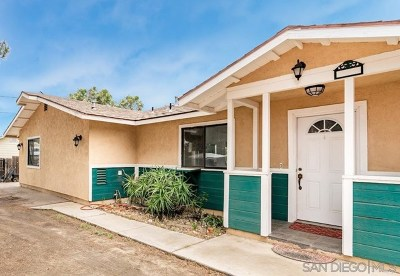 El Cajon Single Family Home For Sale: 1120 La Cresta Blvd