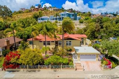 San Diego Single Family Home For Sale: 6674 Hillgrove Drive