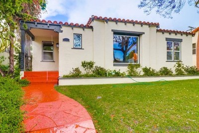 San Diego Single Family Home For Sale: 3464 Cooper St