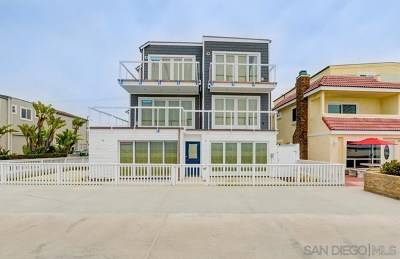 San Diego Condo/Townhouse For Sale: 2761 Ocean Front Walk