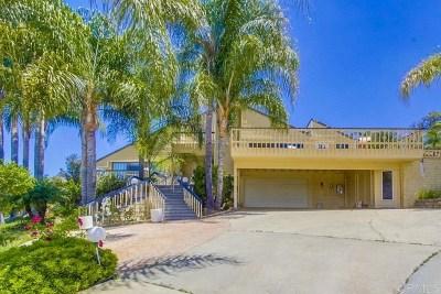 El Cajon Single Family Home For Sale: 1617 Vista Vereda