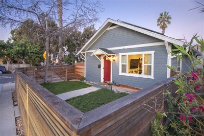 San Diego Single Family Home For Sale: 1903 Adams Ave