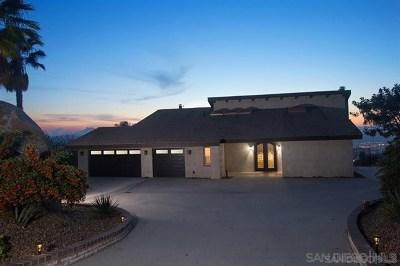 El Cajon Single Family Home For Sale: 1238 Vista Del Monte Dr