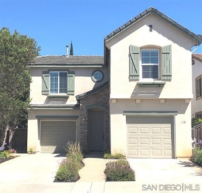 San Marcos Single Family Home For Sale: 1721 Thorley Way