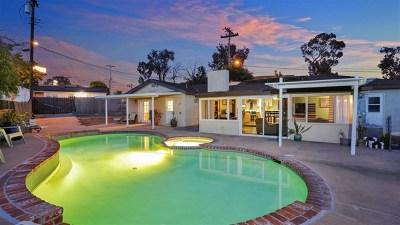 La Mesa Single Family Home For Sale: 8990 Dallas St