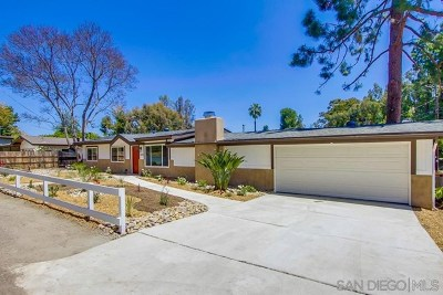 El Cajon Single Family Home For Sale: 1076 Garfield Ave