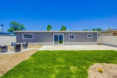 El Cajon Single Family Home For Sale: 865 Valley Village Dr