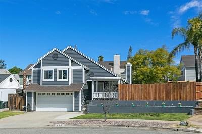 Escondido Single Family Home For Sale: 956 Mariposa Pl