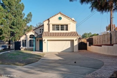 Lemon Grove Single Family Home For Sale: 8647 Shannonbrook Ct