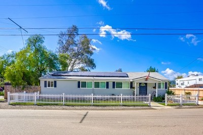 El Cajon Single Family Home For Sale: 102 Park Blvd.