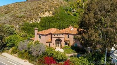 Del Mar Single Family Home For Sale: 14710 Via Del Canon