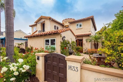 Coronado Single Family Home For Sale: 1633 6th St