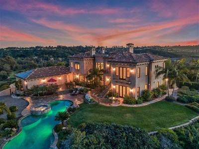 Rancho Santa Fe Single Family Home For Sale: 3996 Stonebridge Ct