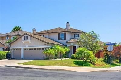 Chula Vista Single Family Home For Sale: 1052 Camino Espuelas