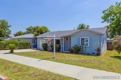 El Cajon Single Family Home For Sale: 321 El Monte Rd