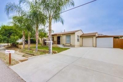 El Cajon Single Family Home For Sale: 13220 Aurora