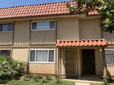 Escondido Condo/Townhouse For Sale: 911 N Fig #D