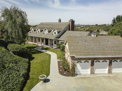 Fallbrook Single Family Home For Sale: 3290 Caminita Cortina