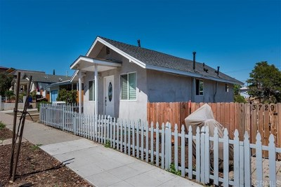 San Diego Multi Family Home For Sale: 3727 Central Ave