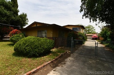 El Cajon Single Family Home For Sale: 455 Filbert St