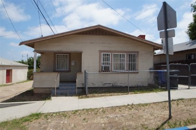 San Diego County Single Family Home For Sale: 3717 Wightman Street