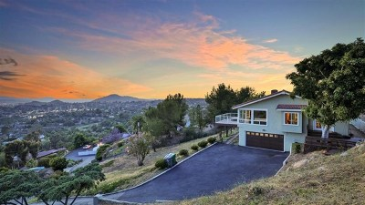 El Cajon Single Family Home For Sale: 1988 Longs Hill Rd