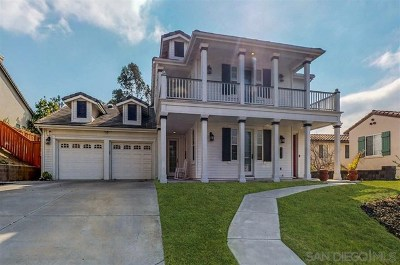 Chula Vista Single Family Home For Sale: 2816 Savannah Ct